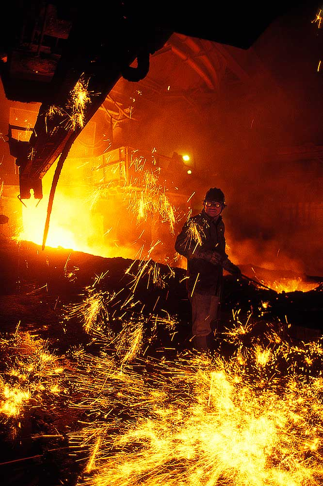 Industrial photography metallurgy